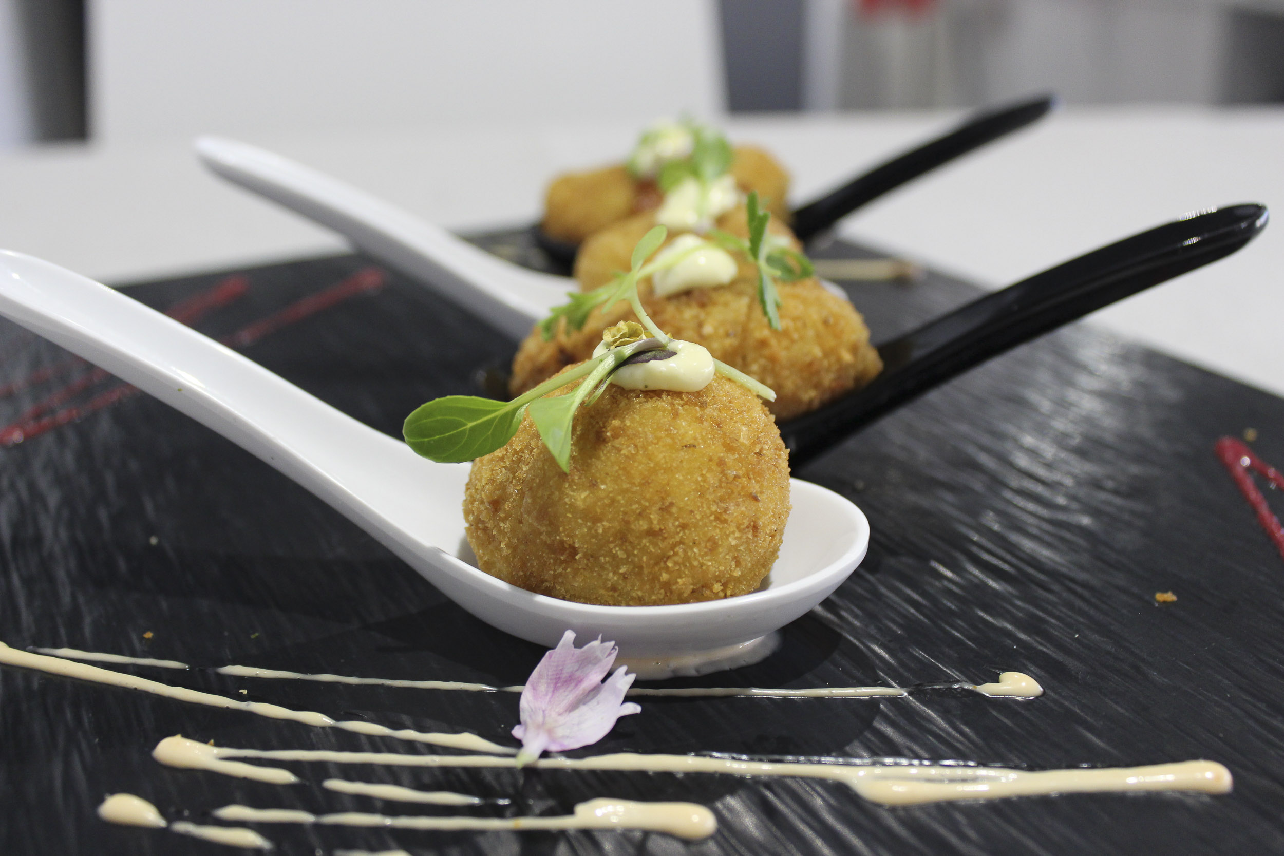 Home made fish croquettes